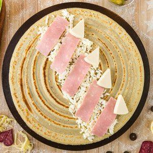 Pantastic Pancakes - cheese and ham